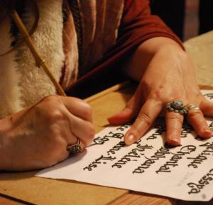 Dame Nika calligraphie